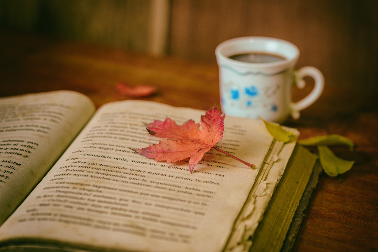 leaves, coffee, cup